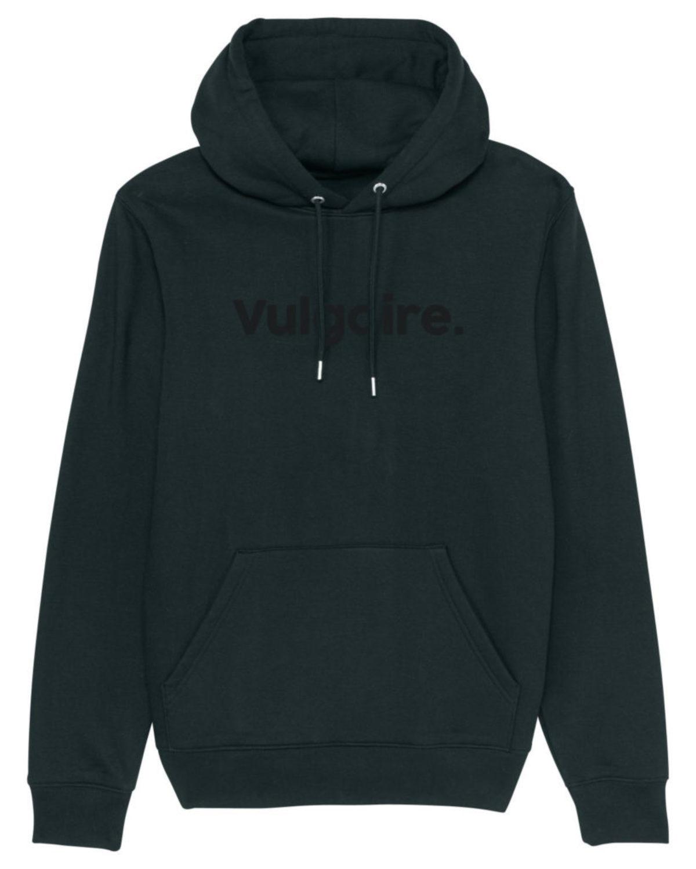 Hoodie - Vulgaire. Black